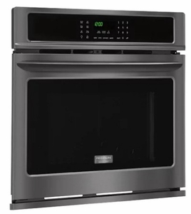 "FGEW3065PD Frigidaire Gallery 30"" Electric Single Wall Oven with True Convection and Steam Cleaning - Black Stainless Steel"