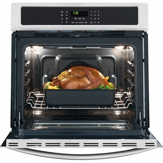 "FGEW3065PF Frigidaire Gallery 30"" Electric Single Wall Oven with True Convection - Smudge-Proof Stainless Steel"