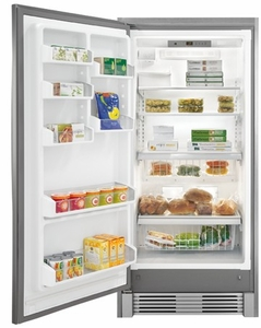"""FGFU19F6QF Frigidaire Gallery 32"""" 19 Cu. Ft. All Freezer with Smudge Proof Stainless Steel"""