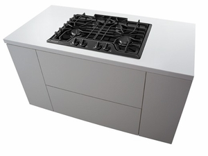 """FGGC3045QB Frigidaire Gallery 30"""" Gas Cooktop with Angled Front Controls - Black"""