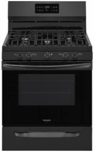 """FGGF3036TB Frigidaire Gallery 30"""" Freestanding Gas Range with One-Touch Self Clean and Quick Bake Convection - Black"""