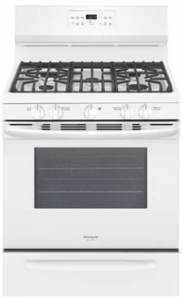 "FGGF3036TW Frigidaire Gallery 30"" Freestanding Gas Range with One-Touch Self Clean and Quick Bake Convection - White"