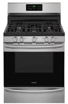 "FGGF3047TF Frigidaire Gallery 30"" Freestanding Gas Range with 5 Sealed Burners and Quick Bake Convection - Stainless Steel"