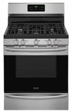 "FGGF3047TF Frigidaire 30"" Freestanding Gas Range with 5 Sealed Burners and Quick Bake Convection - Stainless Steel"
