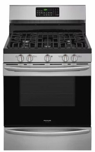 "FGGF3059TF Frigidaire Gallery 30"" Freestanding Gas Range with True Convection and Quick Preheat - Stainless Steel"