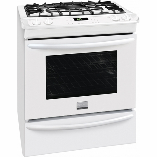 Fggs3065pw Frigidaire Gallery 30 Gas Slide In Range With Convection