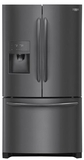 "FGHB2868TD Frigidaire 36"" Gallery Series French Door 26.8 Cu. Ft. Refrigerator with Store-More Shelves and PureSource Ultra II Water Filtration - Black Stainless Steel"