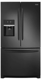 "FGHB2868TE Frigidaire 36"" Gallery Series French Door 26.8 Cu. Ft. Refrigerator with Store-More Shelves and PureSource Ultra II Water Filtration - Black"