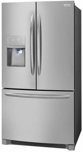 "FGHB2868TF Frigidaire 36"" Gallery Series French Door 26.8 Cu. Ft. Refrigerator with Store-More Shelves and PureSource Ultra II Water Filtration - Stainless Steel"