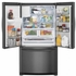"""FGHD2368TD Frigidaire 36"""" Counter Depth Gallery Series French Door 21.7 Cu. Ft. Refrigerator with Store-More Shelves and PureSource Ultra II Water Filtration - Black Stainless Steel"""