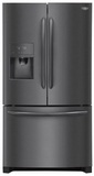"FGHD2368TD Frigidaire 36"" Counter Depth Gallery Series French Door 21.7 Cu. Ft. Refrigerator with Store-More Shelves and PureSource Ultra II Water Filtration - Black Stainless Steel"