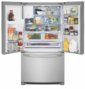 "FGHD2368TF Frigidaire 36"" Counter Depth Gallery Series French Door 21.7 Cu. Ft. Refrigerator with Store-More Shelves and PureSource Ultra II Water Filtration - Stainless Steel"