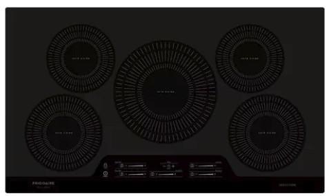 "FGIC3666TB Frigidaire 36"" Gallery Series Built-In Induction Cooktop with Auto Sizing Pan Detection and Even Heat - Black"