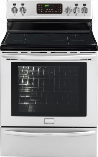 "FGIF3061NF Frigidaire Gallery 30"" Induction Range with Marlin Blue Interior - Smudge-Proof Stainless Steel"