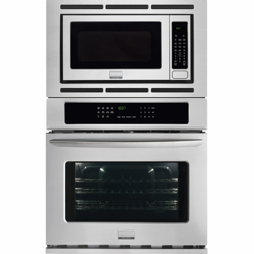 "FGMC3065PF Frigidaire Gallery 30"" Electric Wall Oven/Microwave Combination with Convection - Smudge-Proof Stainless Steel"