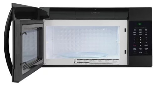 Fgmv176ntb Frigidaire Gallery 1 7 Cu Ft Over The Range Microwave With Pureair Filter And Ewise Rack Black