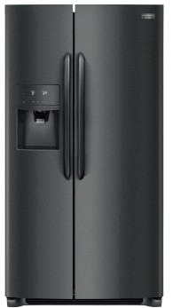 """FGSC2335TD Frigidaire 36"""" Gallery Series 25.5 Cu. Ft Counter Depth Side by Side Refrigerator with Pure Air Ultra Filters and Store-More Glass Shelves - Smudge-Proof Black Stainless Steel"""