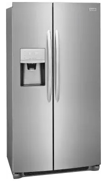 "FGSS2335TF Frigidaire 33"" Gallery Series 22.2 Cu. Ft Side by Side Refrigerator with Pure Air Ultra Filters and Store-More Glass Shelves - Smudge-Proof Stainless Steel"