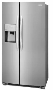 """FGSS2335TF Frigidaire 33"""" Gallery Series 22.2 Cu. Ft Side by Side Refrigerator with Pure Air Ultra Filters and Store-More Glass Shelves - Smudge-Proof Stainless Steel"""