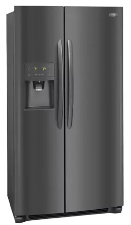 "FGSS2635TD Frigidaire 36"" Gallery Series 25.5 Cu. Ft Side by Side Refrigerator with Pure Air Ultra Filters and Store-More Glass Shelves - Smudge-Proof Black Stainless Steel"