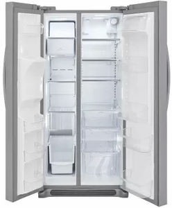 """FGSS2635TF Frigidaire 36"""" Gallery Series 25.5 Cu. Ft Side by Side Refrigerator with Pure Air Ultra Filters and Store-More Glass Shelves - Smudge-Proof Stainless Steel"""