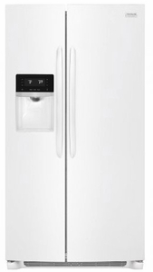 "FGSS2635TP Frigidaire 36"" Gallery Series 25.5 Cu. Ft Side by Side Refrigerator with Pure Air Ultra Filters and Store-More Glass Shelves - Pearl"