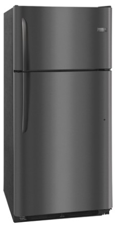 "FGTR1842TD Frigidaire 30"" 18.0 Cu. Ft. Top Mount Refrigerator with Spill Safe Shelves and Custom-Flex Door Bins - Black Stainless Steel"