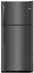 "FGTR2042TD Frigidaire 30"" 20.4 Cu. Ft. Top Mount Refrigerator with Spill Safe Shelves and Custom-Flex Door Bins - Black Stainless Steel"