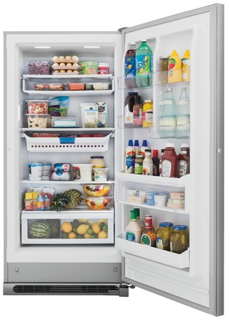 FGVU21F8QF Frigidaire Gallery 20.5 Cu. Ft. 2-in-1 Upright Convertible Freezer or Refrigerator - Stainless Steel