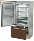 "FI36BILO Fhiaba Integrated Series 36"" Bottom Freezer Drawer Refrigerator with TriMode - Left Hinge - Custom Panel"