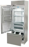 "FP30BILS Fhiaba X-Pro Series 30"" Bottom Freezer Drawer Refrigerator with TriMode - Left Hinge - Stainless Steel"