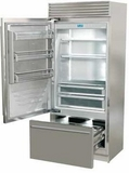 "FP36BILS Fhiaba X-Pro Series 36"" Bottom Freezer Drawer Refrigerator with TriMode - Left Hinge - Stainless Steel"