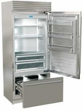"FP36BIRS Fhiaba X-Pro Series 36"" Bottom Freezer Drawer Refrigerator with TriMode - Right Hinge - Stainless Steel"