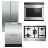 Package FPAY3 - Fisher & Paykel Appliance Package - 4 Piece Appliance Package with Gas Cooktop - Stainless Steel