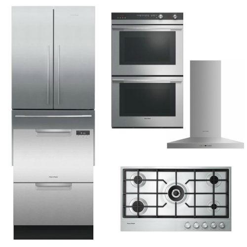 Package FPAY4 - Fisher & Paykel Appliance Package - 5 Piece Appliance Package with Gas Cooktop - Stainless Steel