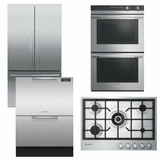 Package FPAY4 - Fisher & Paykel Appliance Package - 4 Piece Appliance Package with Gas Cooktop - Stainless Steel