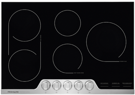 """FPEC3077RF Frigidaire 30"""" Professional Electric Cooktop with 6-Element Smooth Surface - Stainless Steel"""
