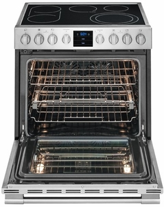 FPEH3077RF Frigidaire Professional 30'' Electric Front Control Slide-In Range with PowerPlus Convection - Stainless Steel