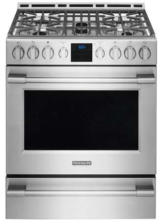 FPGH3077RF Frigidaire Professional 30'' Gas Front Control Freestanding Range with PowerPlus Convection - Stainless Steel