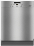 "G4948SCUSS Miele 24"" Pre-Finished Full Size Dishwasher with Visible Control Panel and 5 Programs - Stainless Steel"