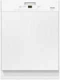 "G4948SCWH Miele 24"" Pre-Finished Full Size Dishwasher with Visible Control Panel and 5 Programs - White"
