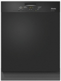 "G4948UBL Miele 24"" Pre-Finished Full-Size Dishwasher with Visible Control Panel and Cutlery Basket - Black"