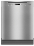 "G6625SCSS Miele 24"" Pre Finished Full Size Dishwasher with Visible Control Panel and 3D+ Cutlery Tray - Stainless Steel"
