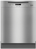 "G6625USS Miele 24"" Pre-Finished Full-Size Dishwasher with Visible Control Panel and Cutler Basket - Clean Touch Stainless Steel"