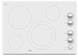 """G7CE3034XP Whirlpool Gold 30"""" Electric Cooktop - Pure White"""