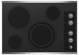 """G7CE3034XS Whirlpool Gold 30"""" Electric Cooktop - Black on Stainless Steel"""