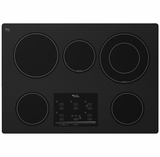 """G9CE3065XB Whirlpool Gold 30"""" Electric Cooktop - Black"""