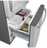 """GDE25ESKSS GE 33"""" Energy Star 24.9 Cu. Ft. Bottom-Freezer Drawer Refrigerator with Factory-Installed Icemaker - Stainless Steel"""
