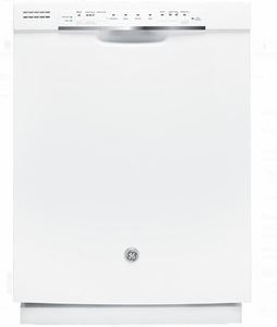 Gdf570sgjww ge 24 front control dishwasher with stainless steel interior and front controls white for White dishwasher with stainless steel interior