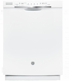 "GDF570SGJWW GE 24"" Front Control Dishwasher with Stainless Steel Interior and Front Controls - White"